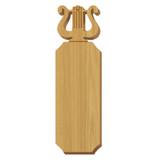 Alpha Chi Omega Lyre Oak Plaque