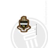 Kappa Alpha Theta Small Raised Wooden Crest