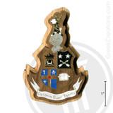 Theta Delta Chi Large Raised Wooden Crest