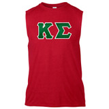 Fraternity & Sorority Lettered Gildan Sleeveless T-Shirt