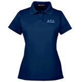 Sorority Embroidered Poly Performance Knit Sport Shirt