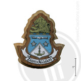 Alpha Delta Pi Large Raised Wooden Crest