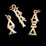10 kt Gold Vertical Letters Lavalier