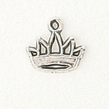 Sterling Silver Small Crown Symbol
