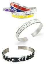 Sorority Bangle Cuff Bracelet in Colors