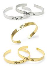 Big Sis / Little Sis Bangle Cuff Bracelet