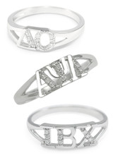 Sterling Silver Ring w/ Simulated Diamonds