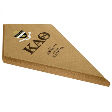 Kappa Alpha Theta Kite Paddle Plaque Side