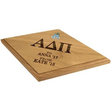 Alpha Delta Pi Paddle Plaque Side