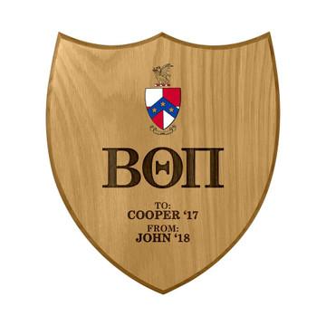 Beta Theta Pi Shield Paddle Plaque