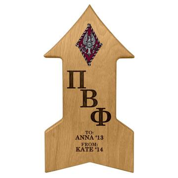 Pi Beta Phi Arrow Paddle Plaque
