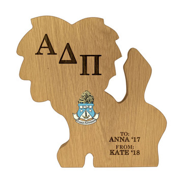 Alpha Delta Pi Lion Paddle Plaque