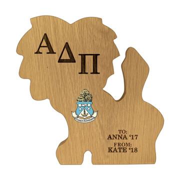 Alpha Delta Pi Lion Paddle Plaque