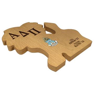 Alpha Delta Pi Lion Paddle Plaque Side