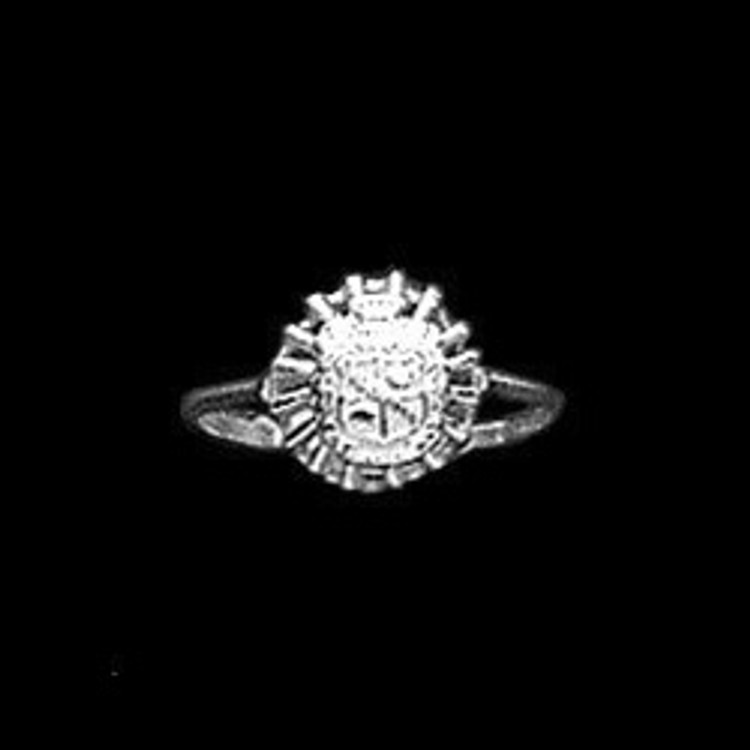 Sterling Silver Sorority Star Base Ring with Crest