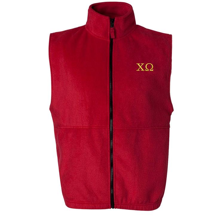 Fraternity & Sorority Embroidered Full Zip Polar Fleece Vest