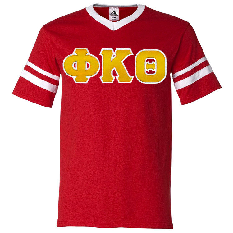 Fraternity & Sorority Lettered Sleeve Stripe Jersey