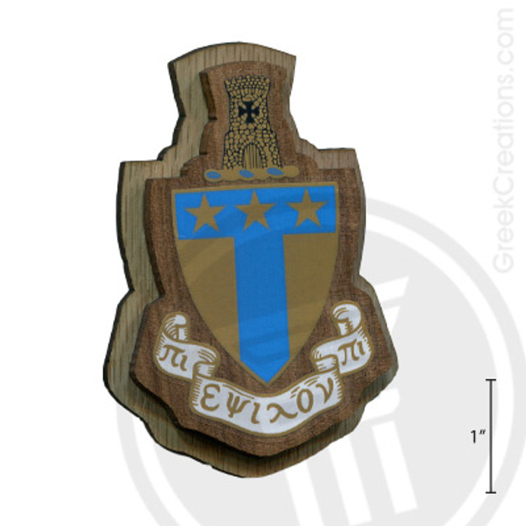 Alpha Tau Omega Large Raised Wooden Crest