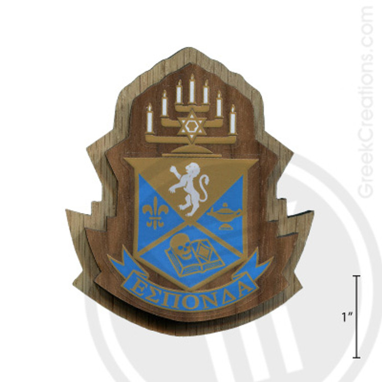 Alpha Epsilon Pi Large Raised Wooden Crest