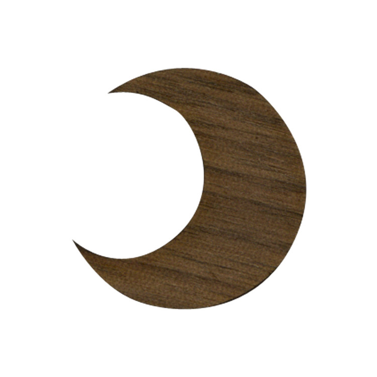 Wooden Crescent Moon Symbol