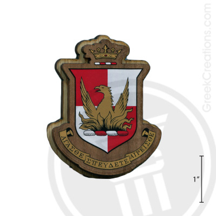 Alpha Sigma Alpha Large Raised Wooden Crest