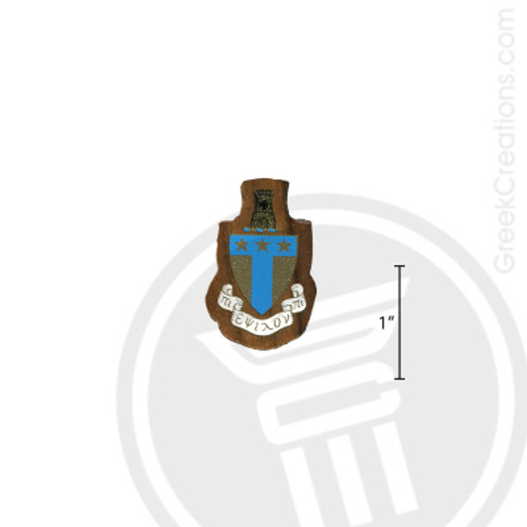 Alpha Tau Omega Small Raised Wooden Crest