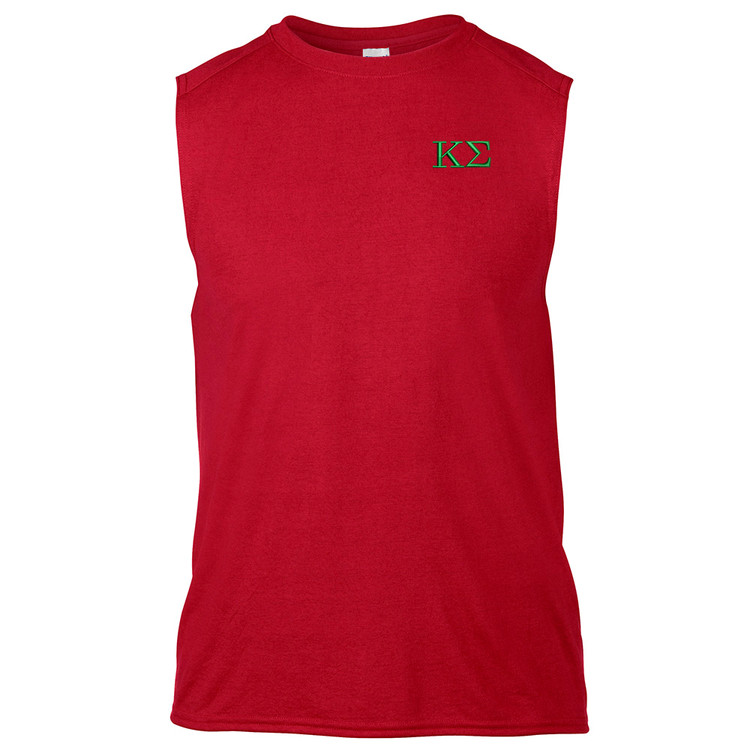 Fraternity Embroidered Gildan Sleeveless Shooter T-Shirt