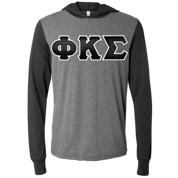 Fraternity & Sorority Lettered Canvas Hooded T-Shirt