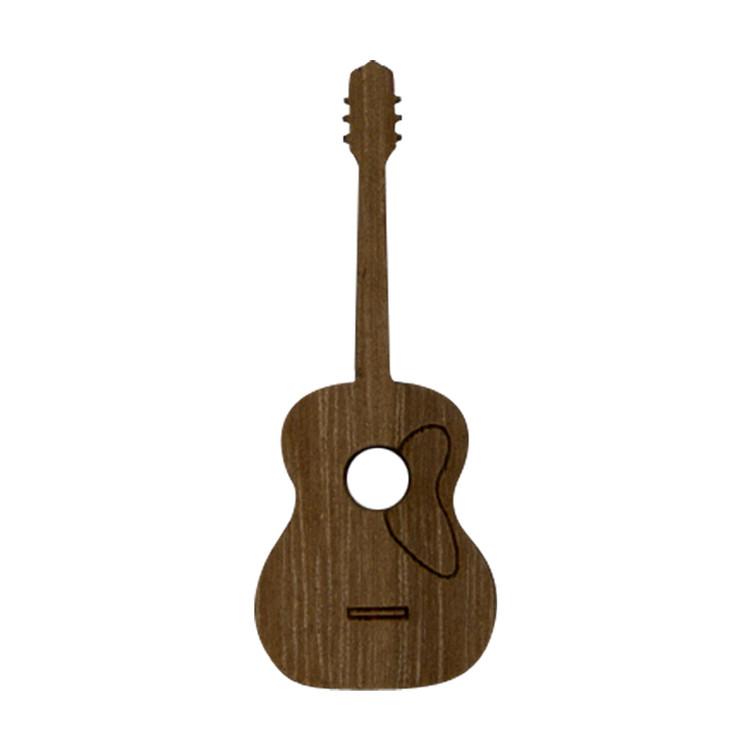 Wooden Guitar Symbol