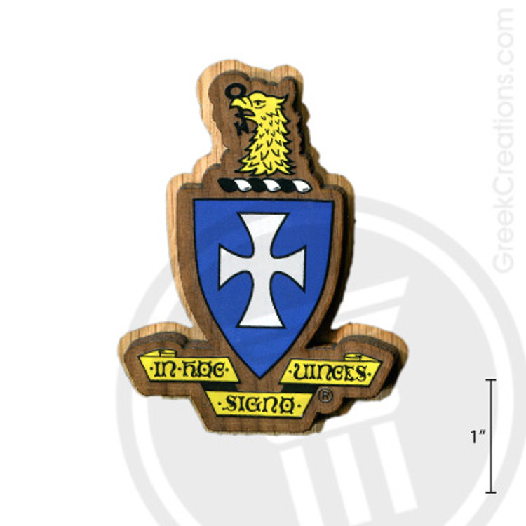 Sigma Chi Large Raised Wooden Crest