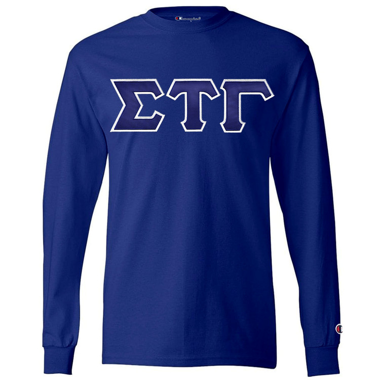 Fraternity & Sorority Lettered Champion Long Sleeve T-Shirt