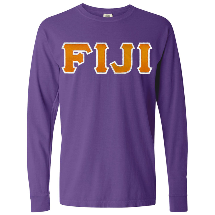 Fraternity & Sorority Lettered Comfort Colors Long Sleeve T-Shirt