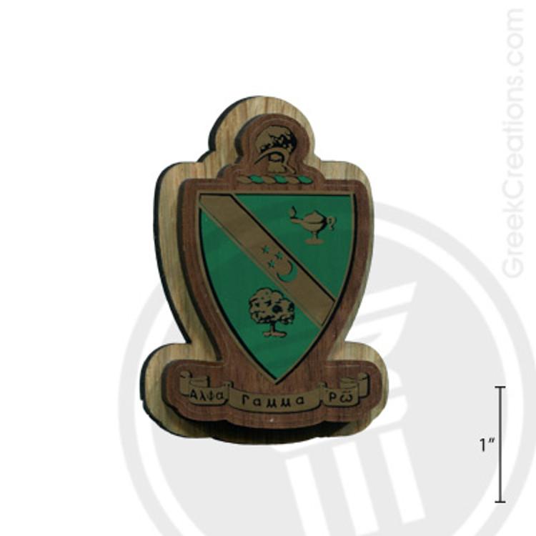 Alpha Gamma Rho Large Raised Wooden Crest