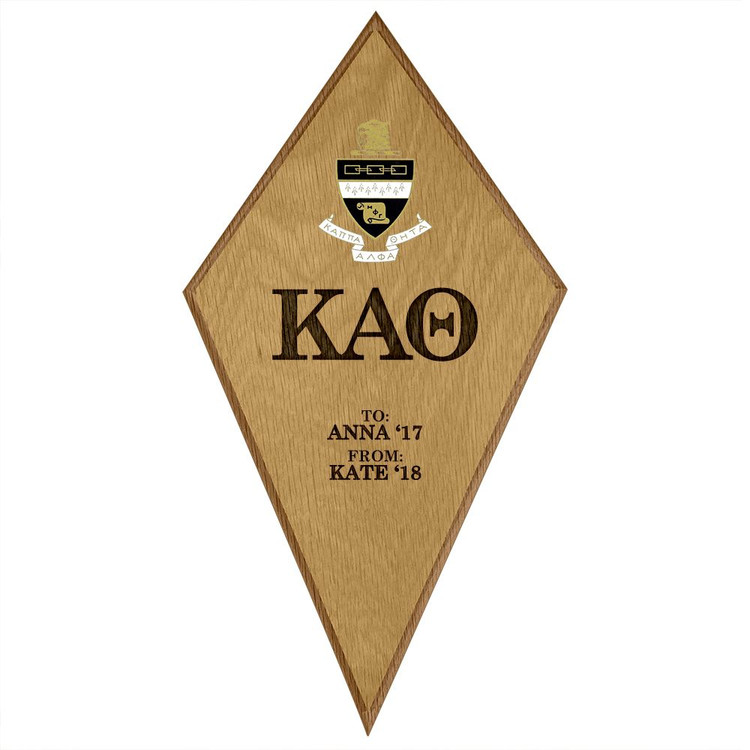 Kappa Alpha Theta Kite Paddle Plaque