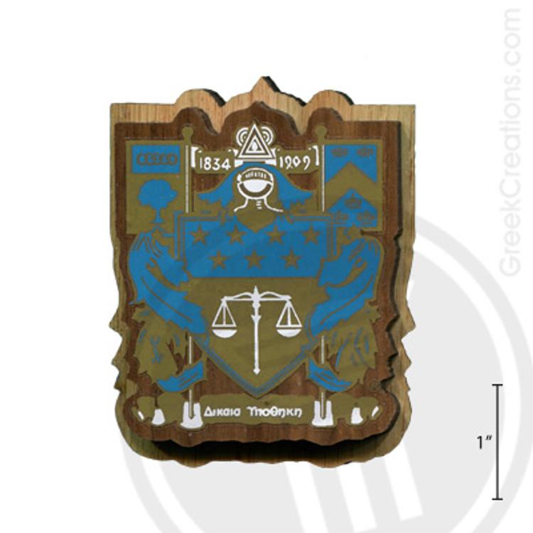 "Delta Upsilon Mini Wood Crest 1.5/"" Paddle Accessory"