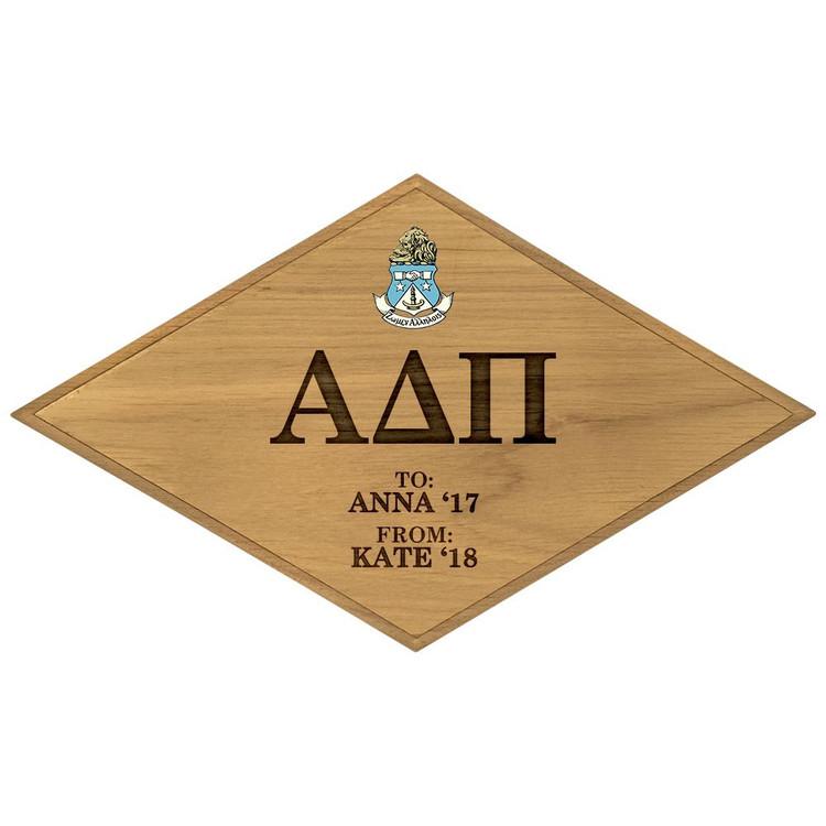 Alpha Delta Pi Paddle Plaque