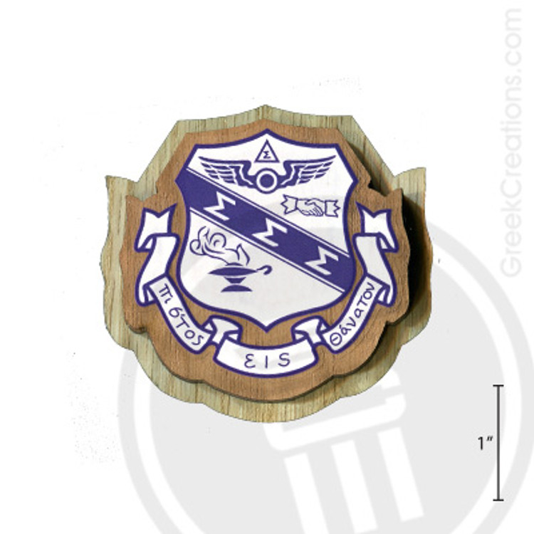 Sigma Sigma Sigma Large Raised Wooden Crest