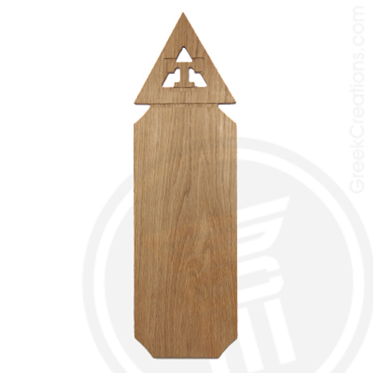 Triangle 21 Inch Blank Greek Letter Paddle