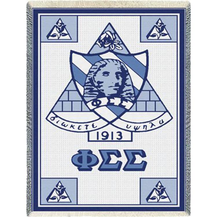 Phi Sigma Sigma Crest Afghan