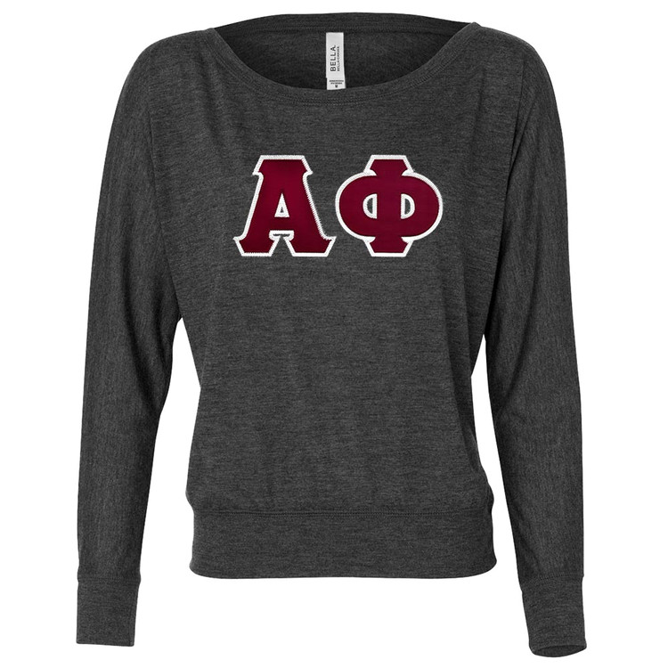 Sorority Lettered Bella Long Sleeve Dolman Top