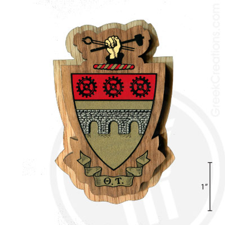 Theta Tau Large Raised Wooden Crest