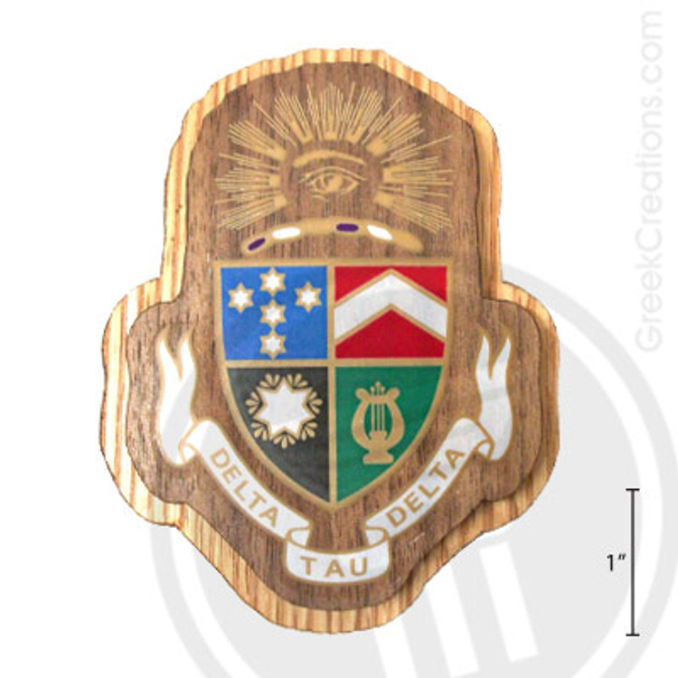 Delta Tau Delta Large Raised Wooden Crest