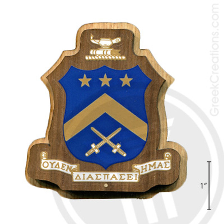 Pi Kappa Phi Large Raised Wooden Crest