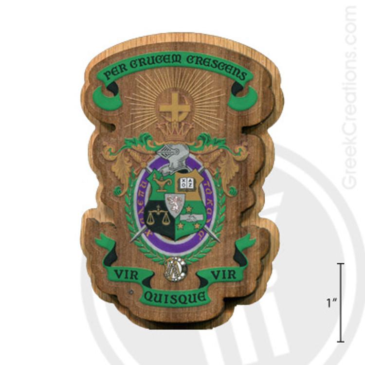 Lambda Chi Alpha Large Raised Wooden Crest
