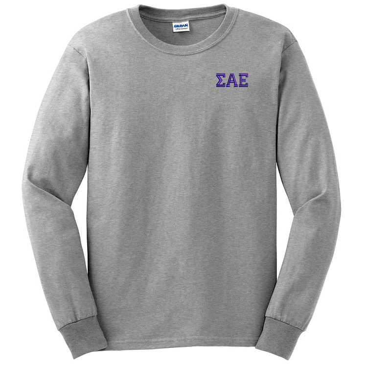 Fraternity & Sorority Embroidered Gildan Long Sleeve T-Shirt