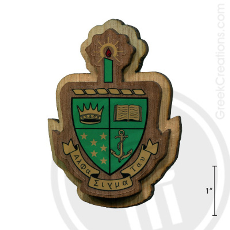 Alpha Sigma Tau Large Raised Wooden Crest