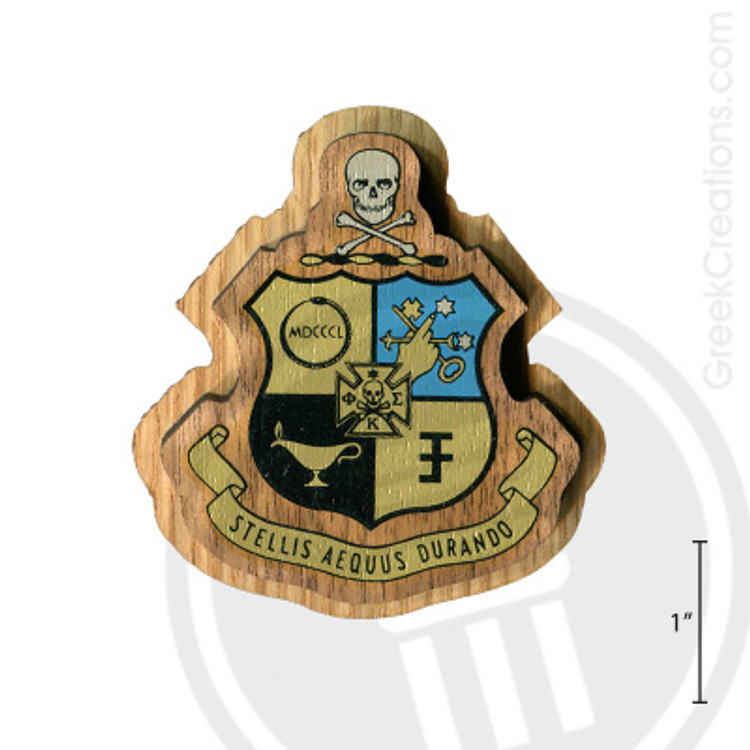 Phi Kappa Sigma Large Raised Wooden Crest