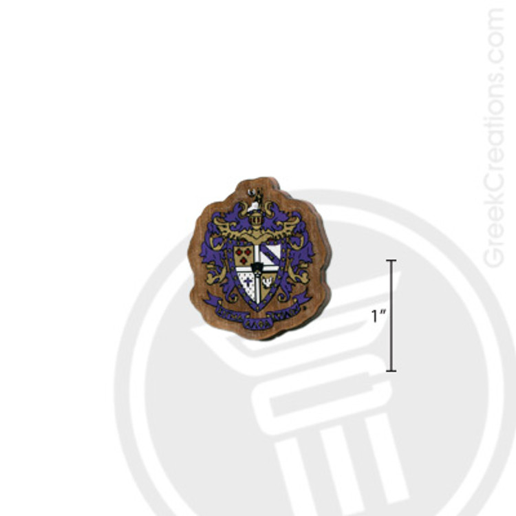 Sigma Alpha Epsilon Small Raised Wooden Crest