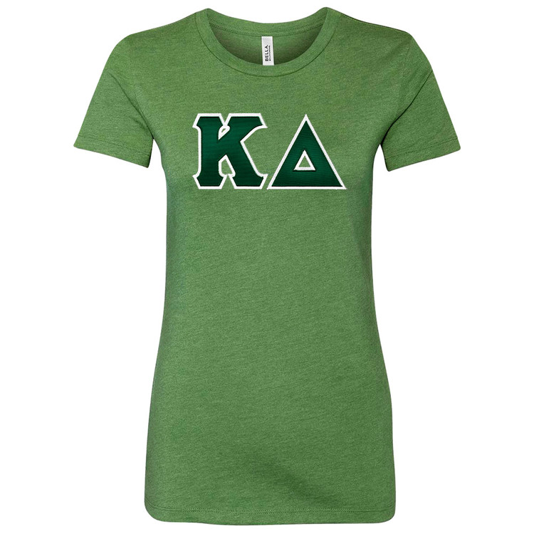 Sorority Lettered Bella Short Sleeve T-Shirt