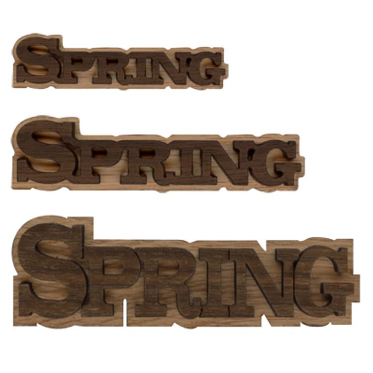 Double Layer Logo Text - Spring